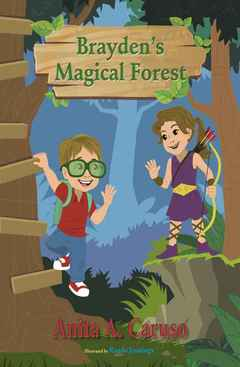 Brayden's Magical Forest takes readers on a quest into a magical kingdom where they encounter a friendly dragon, leprechauns, fairies, elves, and a unicorn.